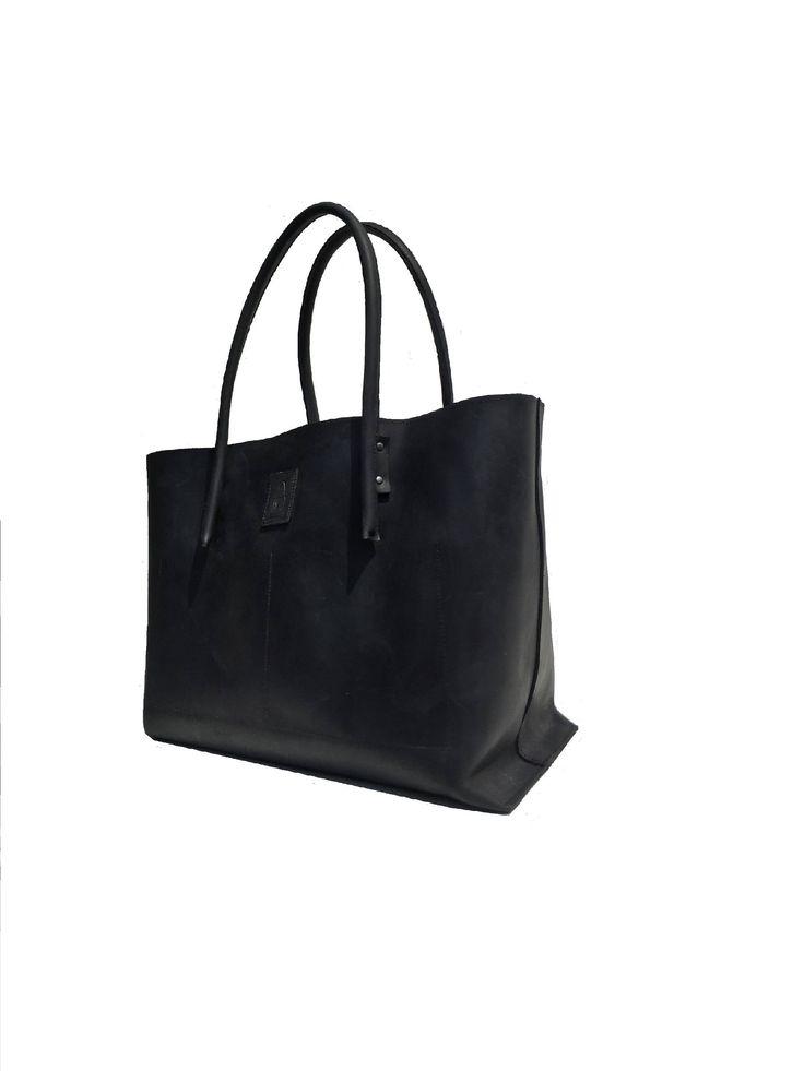 großer Shopper schwarz / Ledertasche used look Leder schwarz/ schwarzer Ledershopper Ledertasche Shopper aus Leder Vintage-Design, handmade von Goldtaschen auf Etsy