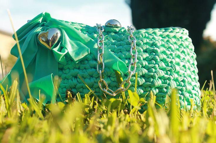 Borsettina a traccola color Tiffany