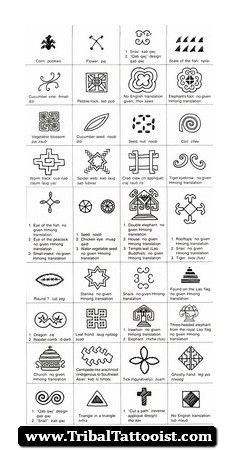 Hmong Tribal Tattoos 04