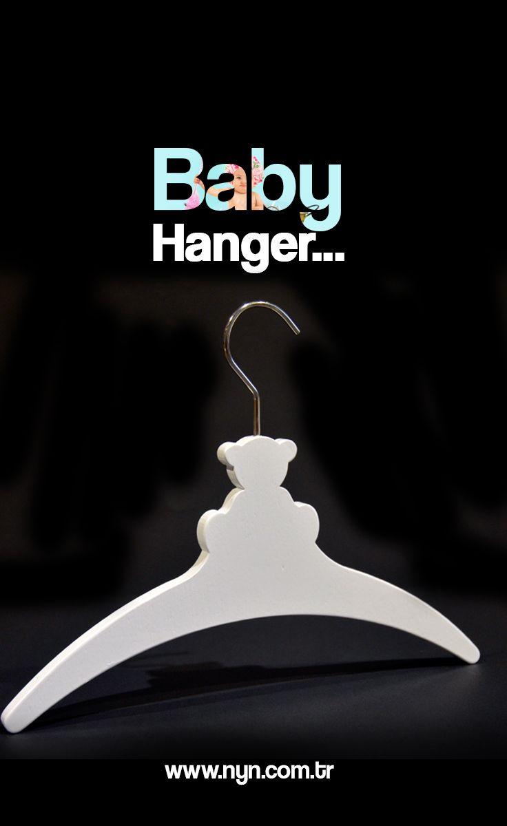 Baby hanger; wooden hanger