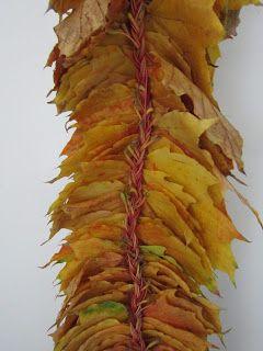 Süti és más...: Őszi leveles ajtódísz