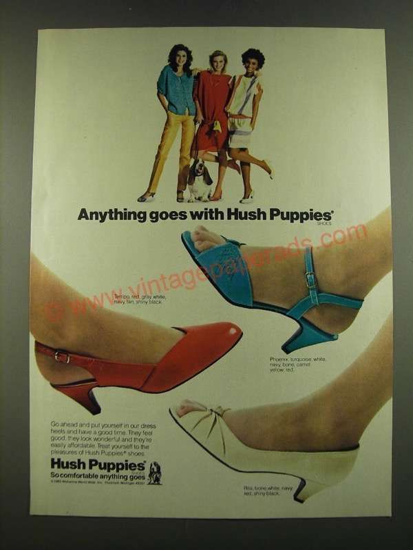En1005 1983 Hush Puppies Shoes Ad Tempo Phoenix And Rita