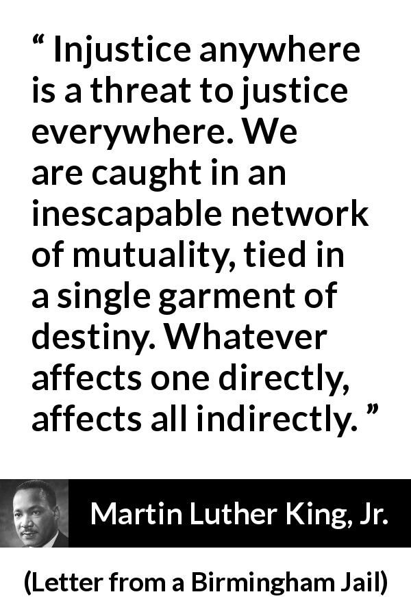 Martin Luther King Jr Quote About Justice From Letter From A Birmingham Jail Martin Luther King Jr Quotes Successful Life Quotes Dr Martin Luther King Jr Quotes