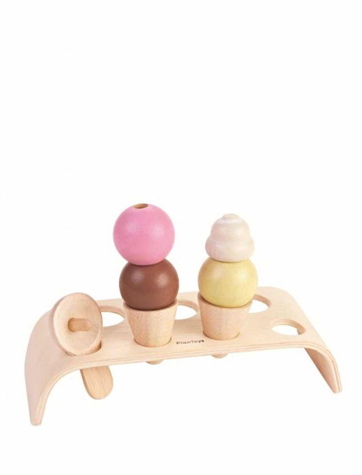 Strutglass på ställning /ice cream set - PlanToys - NYTT - Medvetna.se