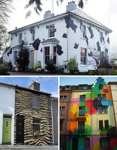 25 Best Craziest House Colors Images On Pinterest Crazy Houses