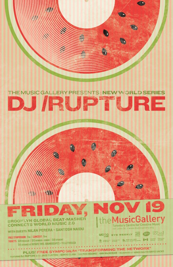 dj /rupture  •  Music Gallery poster  •  designed by jjparé  •  jjpare.tumblr.com