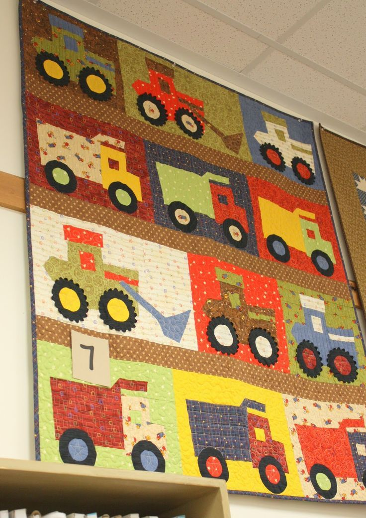 Little Boy Quilt Trucks And Heavy Equipment Quilts And