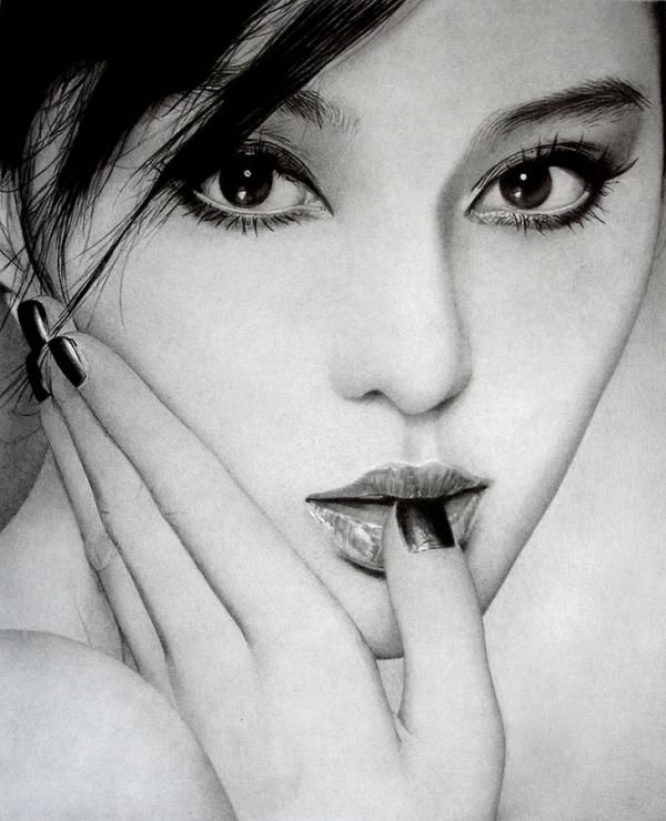 Fan bingbing pencil drawings by ken lee