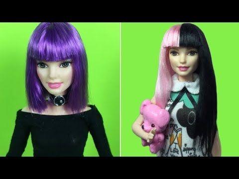 Barbie Hair Barbie Haircut Tutorial How To Make Barbie Hairstyle ♀️ Celebrity Hairstyles #3 - YouTube