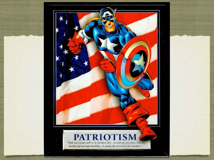 Patriotism captain america motivational poster for kids