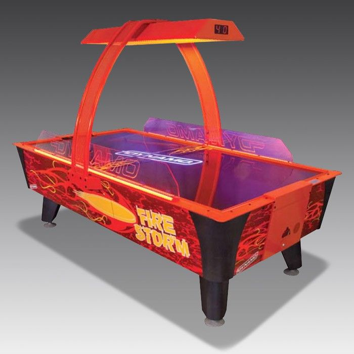 Fire Storm Air Hockey Table   The Games Room Company. A UV coat, LED lights and a backlight make this air hockey table stand out from the crowd