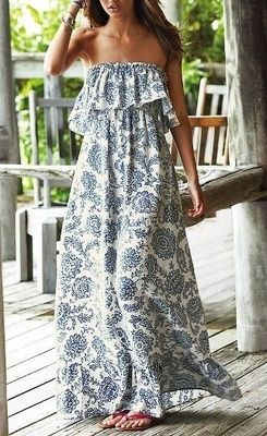 summer maxi dress - this would be easy to make