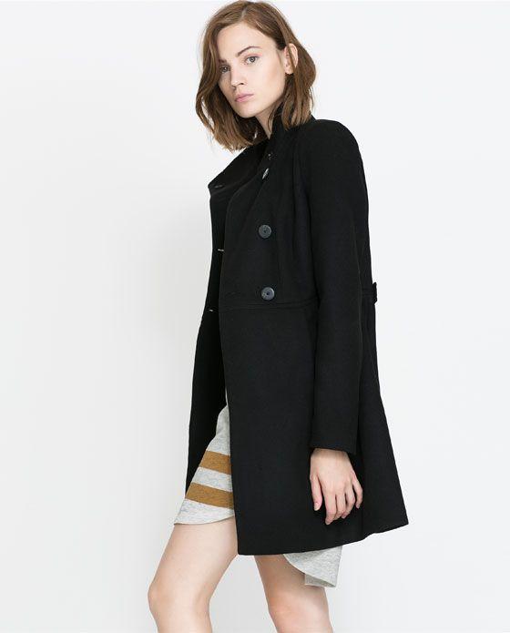 Zara Trafaluc Basic Black Wool Coat; size M; NWOT; $100 shipped (or best offer)