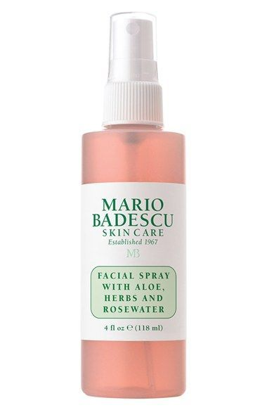Free shipping and returns on Mario Badescu Facial Spray with Aloe, Herbs & Rosewater at Nordstrom.com. A refreshing, hydrating mist to use any time. Formulated simply with fragrant herbal extracts and rosewater for a pleasant pick-me-up for dehydrated, tight and uncomfortable skin. Gentle, non-irritating.