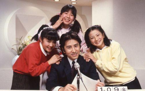 "「パパはニュースキャスター 」1987 。 田村正和、浅野温子、所ジョージ、西尾麻里、他。☆J comedy drama 'Papa wa nūsukyasutā', lit. ""Our daddy is a newscaster"" starring Masakazu Tamura & Yūko Asano."