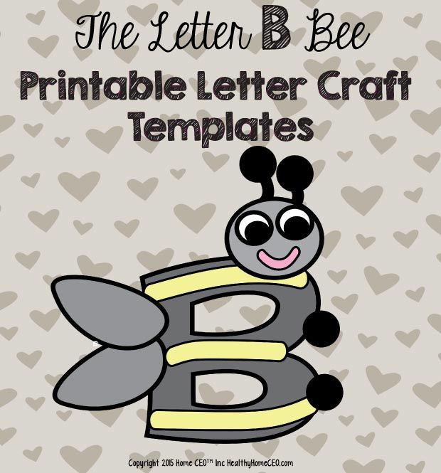 36 best preschool letter craft templates images on pinterest the letter b bee printable letter craft template by home ceo in color and black spiritdancerdesigns Images