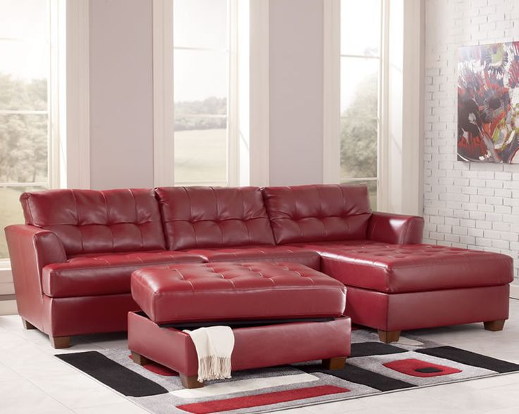 red leather theater sectionals | Red Sectional Sofa Store Chicago » Ashley Furniture Sofa Redsmall Red ...