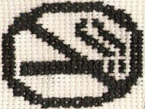 Zákaz kouření #embroidery