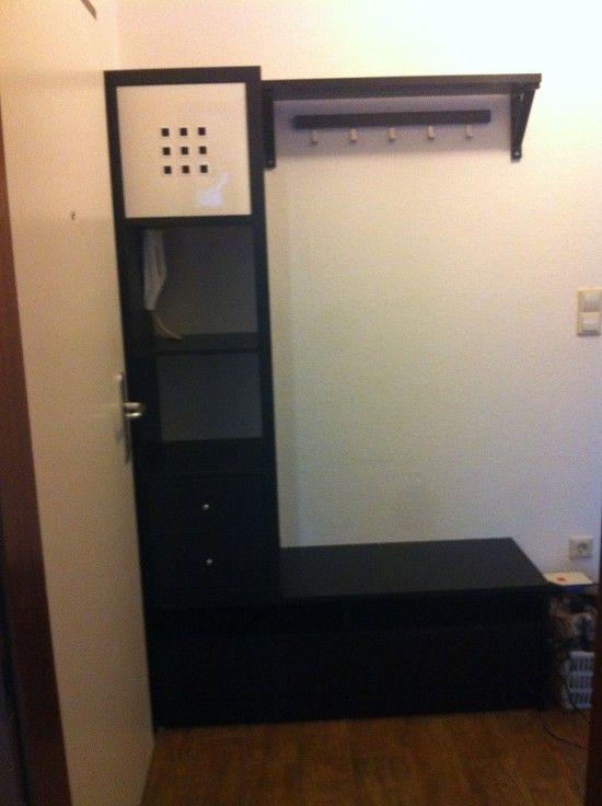 Entrance Wardrobe Materials: Benno TV Board, EKBY HEMNES, Kallax 4×1, Kallax Insert with 2 drawers, Lekman, TJUSIG Read more at http://www.ikeahackers.net/2014/05/entrance-wardrobe-3.html#RYjhkwhhpOQBGWmJ.99