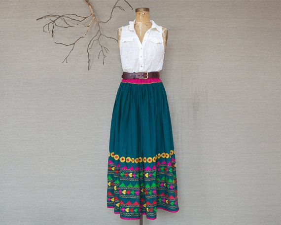 Boho indian / Vintage indian skirt / Hand by HouseofOak on Etsy