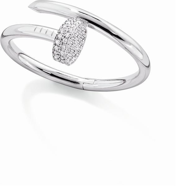 Aldo Cipullo S For Cartier Juste Un Clou Bracelet Pave Diamond Nail Head And 18k White Gold Accessories Pinterest Jewelry