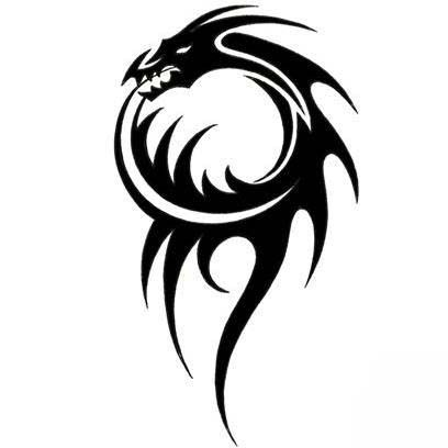 Picture of Chinese dragon tribal tattoo - Google Search