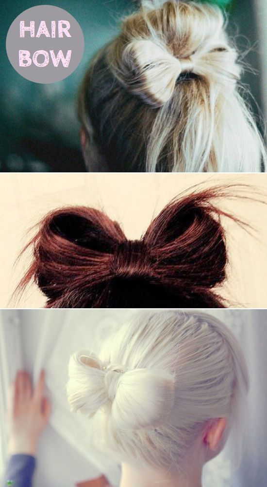 This is a very clear and concise video that makes an adorable bow using all of your hair, not just half!