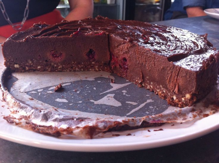 Raw Chocolate and Raspberry Cheesecake. Looks a little rich but apparently getting rave reviews!