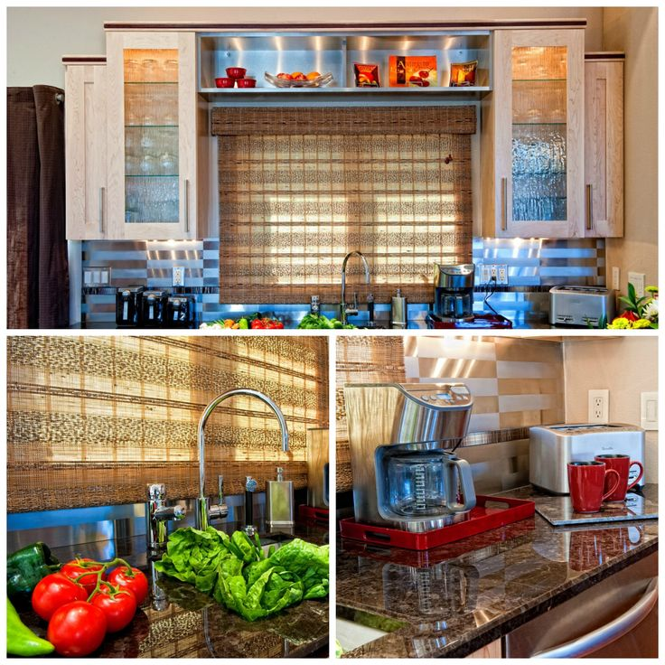 cabinets with plenty of countertop space for small electric appliances ...