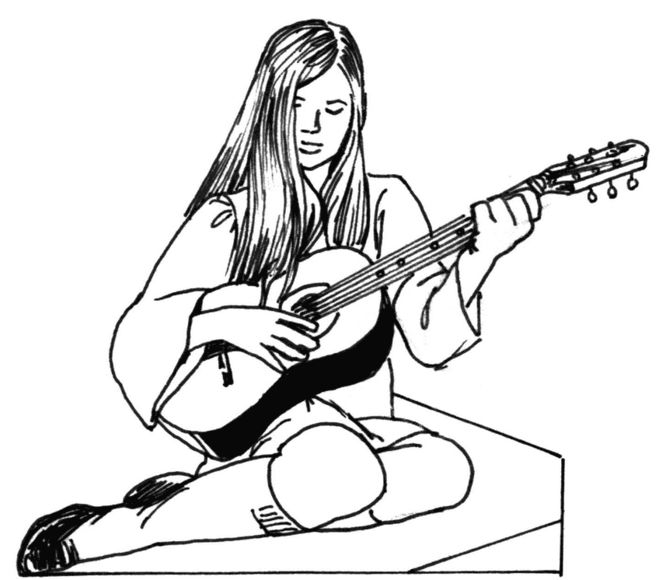классического, картинки карандашом про гитариста оглядываясь