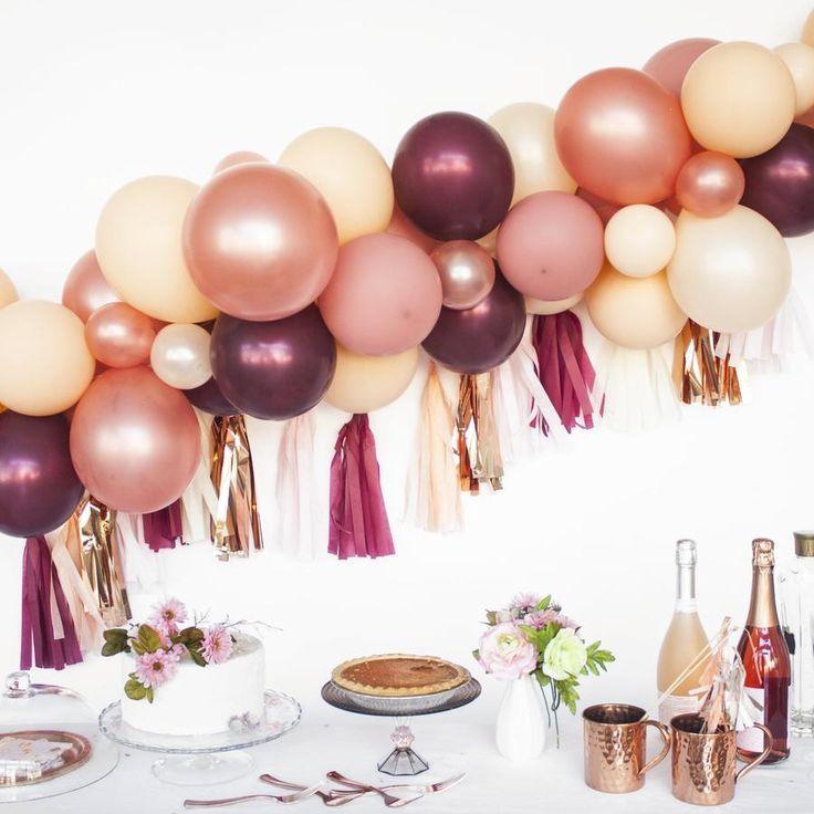 Wine And Blush Garland #balloon #diy #garland #garlanddiy