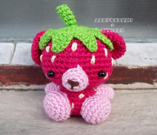 Crocheted bear.