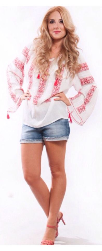 Bohemian chic look: your favorite jeans and the ethnic blouse by Anilu! www.anilu.ro/en