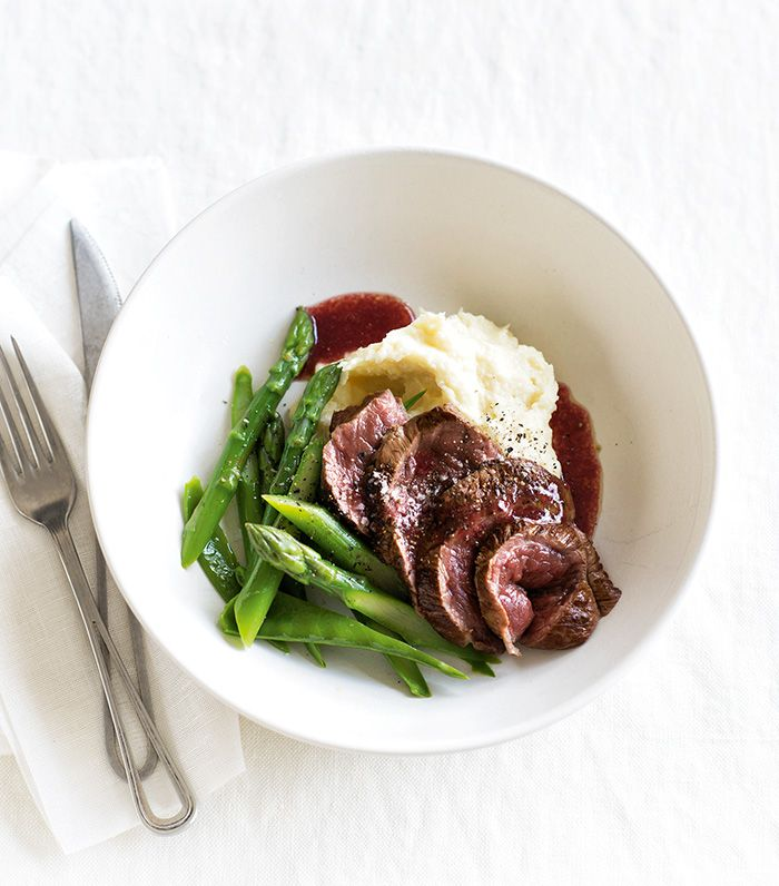 Pair succulent venison with the sweetness of boysenberries and a creamy parsnip mash for a sophisticated dinner meal.