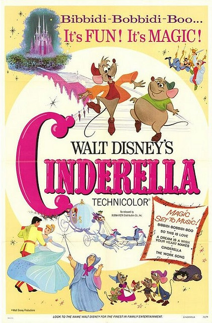 Vintage Disney Posters- when I was very little, my parents ordered a vintage Cinderella poster very similar to this one for my room. Not only is it a valuable antique, it is SIGNED by Ilene Woods, the woman who voiced Cinderella. It is one of my most prized possessions- C.G.
