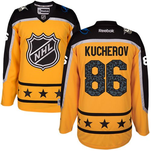 Men's Tampa Bay Lightning #86 Nikita Kucherov Yellow 2017 All-Star Atlantic Division Stitched NHL Jersey