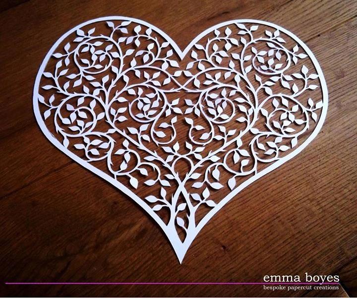 Branch heart papercut by Emma Boyes (emma Boyes - papercuts)