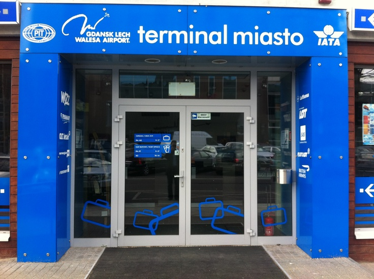 Terminal Miasto of Gdansk Lech Walesa Airport is authorized by IATA air ticket sales office. Already at 24 hours before scheduled departure, you can comfortably check-in.