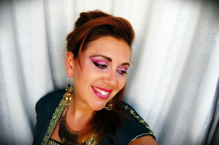 Aisha mas que un -arte: Practicando Maquillaje Novia árabe