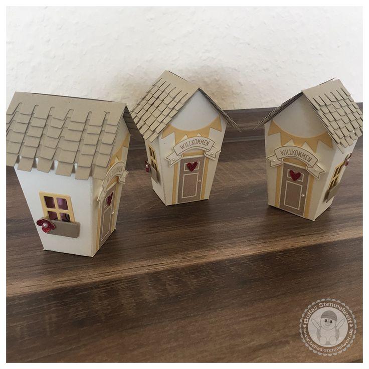 Stampin' Up! - Ein Haus für alle Fälle - kleine Goodies - Bellas Stempelwelt - Baby Bettchen, Cameo, Himmelblau, Foxy Friends, Kinderzimmer