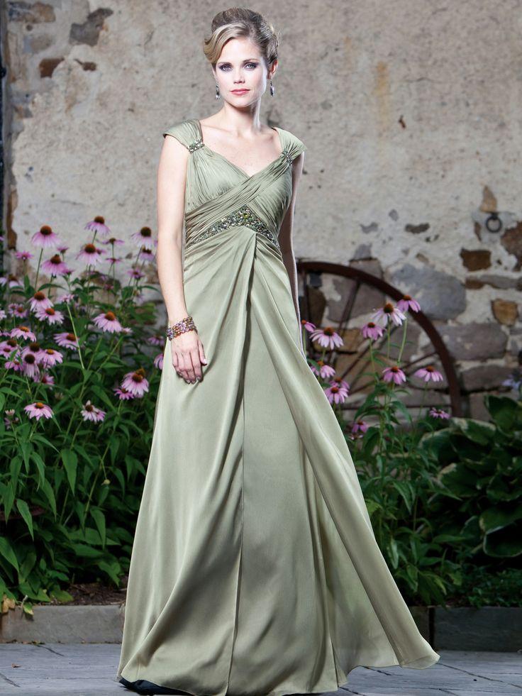Glamorous sleeveless A-line floor-length bridesmaid gown