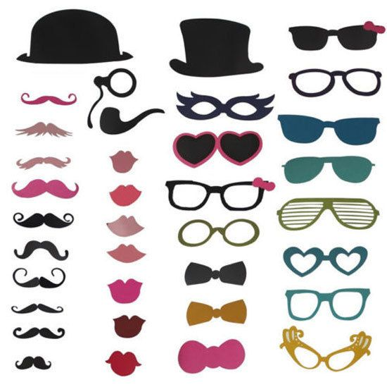NEW 36pcs On A Stick Mustache Photo Booth Props Wedding Party Fun Birthday Favor