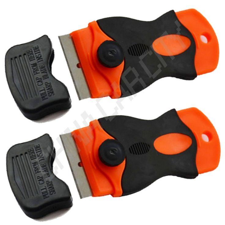 2pcs razor triumph scraper glue removal residue adhesive