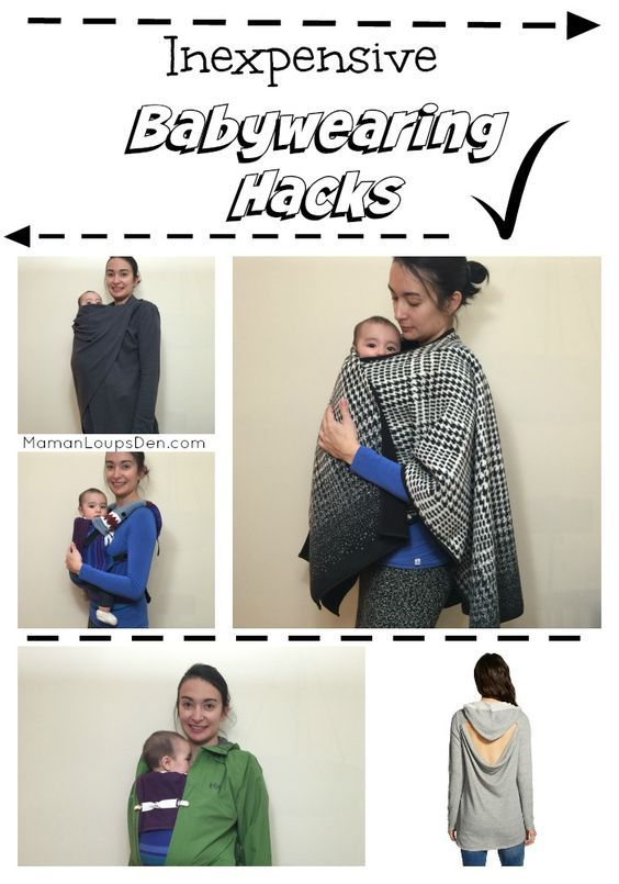 Inexpensive babywearing hacks ~ Maman Loup's Den: Use a Costco poncho or a Target sweater as a cover... use baby legwarmers as drool pads! (scheduled via http://www.tailwindapp.com?utm_source=pinterest&utm_medium=twpin&utm_content=post84934615&utm_campaign=scheduler_attribution)