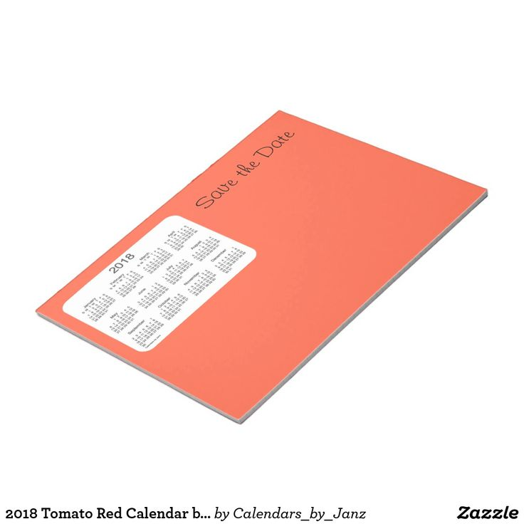 2018 Tomato Red Calendar by Janz Notepad