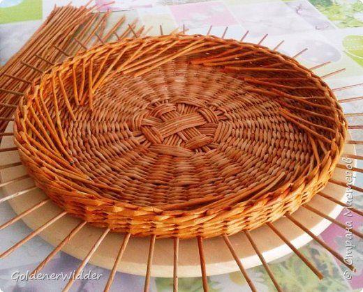 Мастер-класс Поделка изделие Плетение Внутренний бортик у крышки Трубочки бумажные фото 9