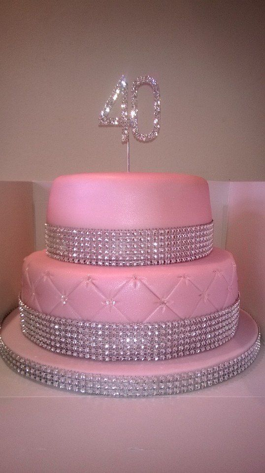 'Bling' Birthday cake x