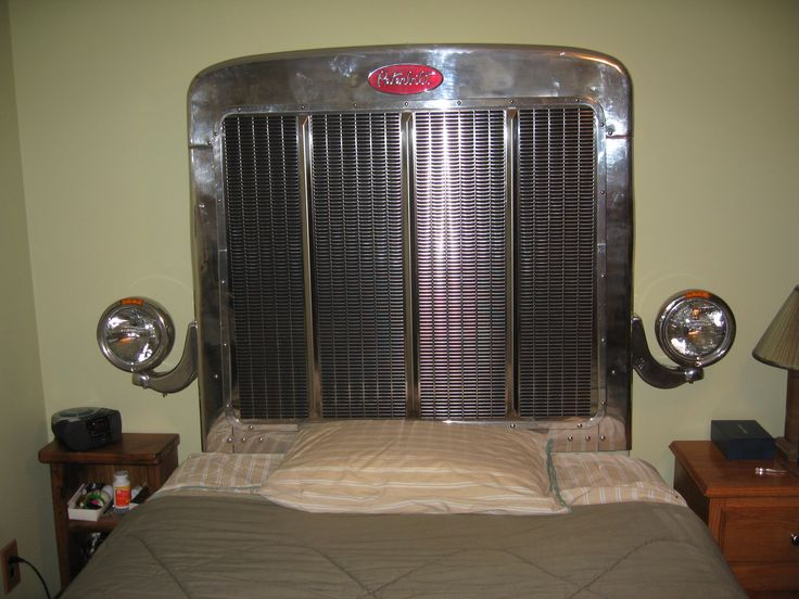 truck grill headboard | He said they then hooked up the lights to two toggle switches, with ...