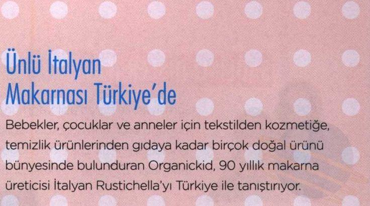 Bebek Dergisi - Ünlü İtalyan Makarnası Türkiye'de