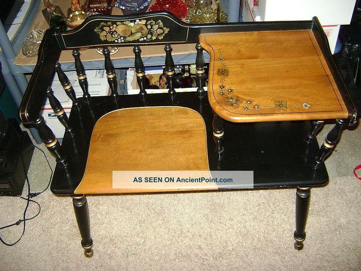 Gossip Benches Part - 35: Vintage Ethan Allen Telephone Table Gossip Bench 1900-1950